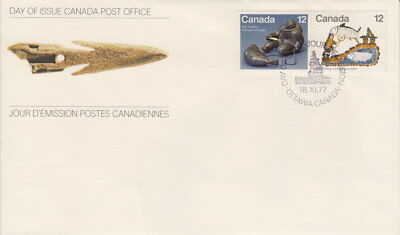 Canada #748-749 12¢ Inuit - Hunting First Day Cover - A