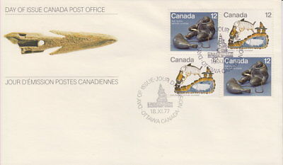 Canada #748-749 12¢ Inuit - Hunting Block First Day Cover