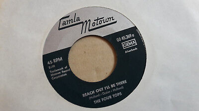"Beat 7"" Soul,THE FOUR TOPS,Reach out i`ll be there"
