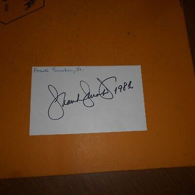 Frank Sinatra Jr., was an American singer, songwriter Hand Signed Index Card