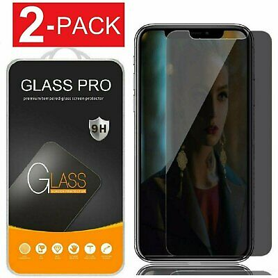 iPhone X XS XR XS Max 11 Pro Privacy Anti-Spy Tempered Glass Screen Protector
