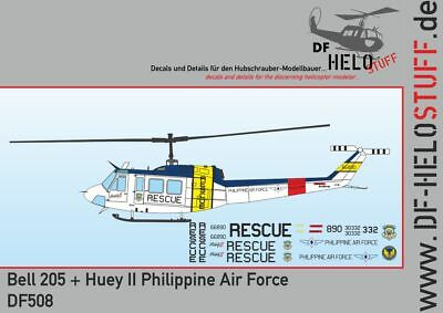 Decals UH-1H Huey + Bell 205 Huey II Philippine Air Force 1:48