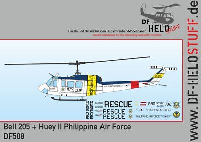 Decals UH-1H Huey + Bell 205 Huey II Philippine Air Force 1:72