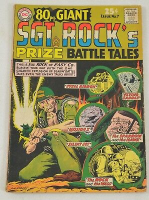 Our Army At War SGT ROCK'S Prize Battle Tales #7 Ungraded Comics Kubert 1965 DC