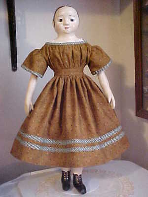 "Antique Repro Sienna Dress For 17-19"" Izannah Walker, China, Parian Doll"