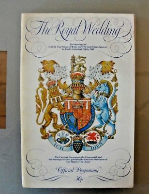 Princess Diana Prince Charles Royal Wedding 1981 Official Program Programme