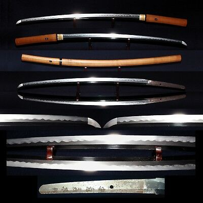 KATANA  ANTIQUE JAPANESE LONG  SWORD 65.6cm SIGNED 兼基 KANEMOTO, Modern Swords