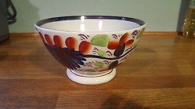 Antique Gaudy Welsh Bowl