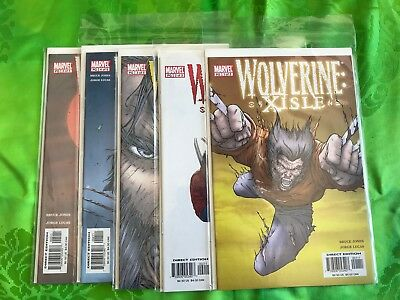 Wolverine Xisle #1 2 3 4 5 Complete Series Set Marvel Comics 2003 Mint Condition