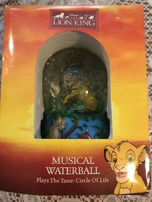 Disney The Lion King Circle Of Life Musical Waterball - New In Box