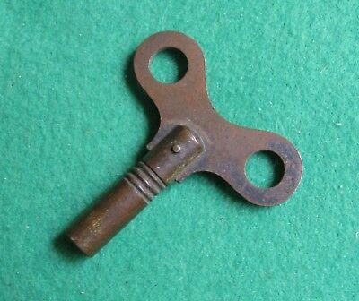 Vintage Solid Brass Clock Key 4mm