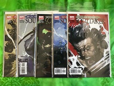 Wolverine Soultaker #1 2 3 4 5 Complete Series Set Marvel Comics Mint Condition