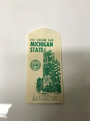 Michigan State Dairy Store Ice Cream Wrapper from the 1960's!!