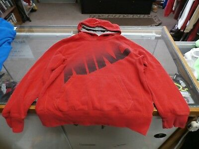 Nike BOYS Hoodie Size Large Red 80% Cotton 20% Polyester #25711