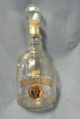 Jack Daniels Old No 7 Maxwell House Whiskey Glass Decanter Bottle w/Booklet