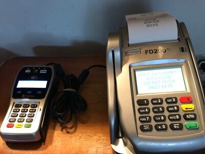 First Data FD200 Ti Credit Card Terminal & Check Reader w/Pin Pad