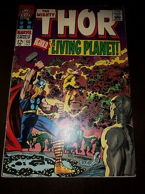 The Mighty Thor #133 (1966 Marvel Comics) Ego appearance NO RESERVE