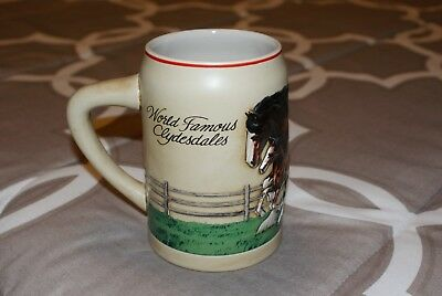 1988 Budweiser World Famous Clydesdales Mare and Foal stein