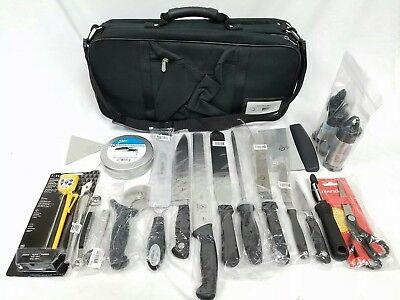 Mercer Culinary Triple-Zip Case 21-Pocket Pastry Baking Set With 60 Tools New