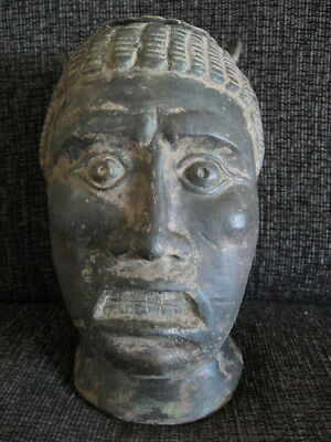 BALSAMARIUM ANCIENT ROMAN BRONZE HEAD OF SLAVE 1-3 ct.AD >2000 grams 20 cm