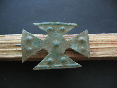 Bronze Age Brooch Ancient Illyrians Bronze Cross Form Fibula 1100-900 B.c.
