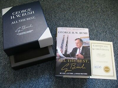 President GEORGE H W BUSH Signed Autographed ALL THE BEST Book Numbered COA Rare