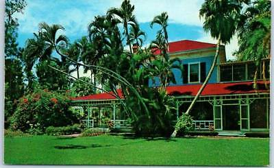 "Fort Myers, Florida Postcard ""THOMAS ALVA EDISON HOME"" Yard View c1960s Chrome"