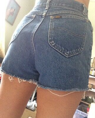 Vintage Denim Cut offs Lee 80s XS high waisted Jean shorts jorts extra small