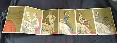 1882 6 Panel Trade Card Garland Stove Ranges Marriage Five Acts Cassius Coolidge