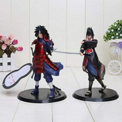 FIGURINES 2 pcs/LOT NARUTO 18 cm Naruto Uchiha Madara Sasuke pvc action figure j