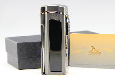 Cohiba Black Metal 4 Torch Jet Flame Cigar Lighter With Cutter 2 Punch Classic