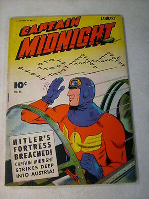 Captain Midnight #16 Hitlers Fortress Breached, 1944, Sergeant Twilight!!
