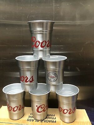 Coors Light Aluminum Cup Set of 6 Brand New
