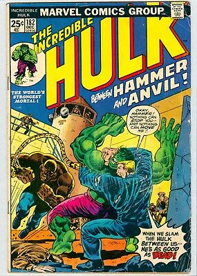 Incredible Hulk #182 Vg 2Nd Wolverine Complete Lowest Priced Bronze Key On Net