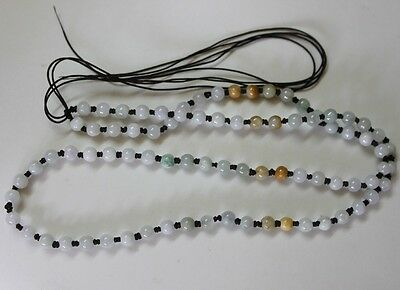 Hand Knotted String JADE Beads Necklace Thread Charm Pendant Jewelry Making #109