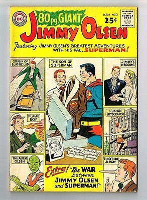 DC 80 Page Giant #2 Jimmy Olsen's Greatest Adventures 1964 4.5-5.0