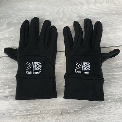 Karrimor Mens Running Thermal Gloves Breathable Black Size L / XL S133-21