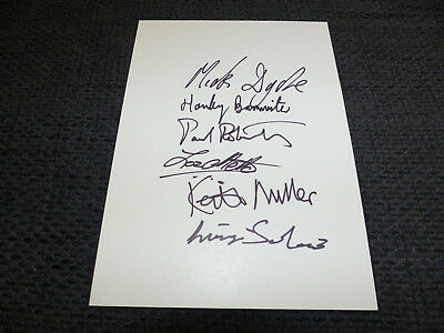 SNIFF `N`THE TEARS signed Autogramme 1979 auf 15x21 cm Karteikarte InPerson LOOK