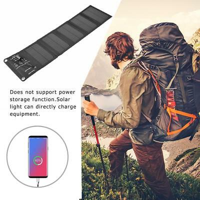 Folding 10W Universal Solar Panels Cells Battery Charger 5V 2.1A Power Bank Lot
