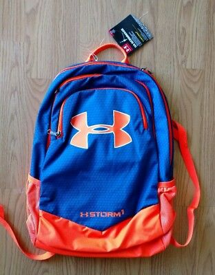Under Armour STORM1 Scrimmage Laptop Backpack Full-Size Boys Orange Blue UA NEW