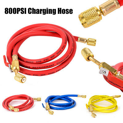 For R410a Hose 60'' 1/4''SAE Refrigerant Charging Shut Connector 150cm/60inch