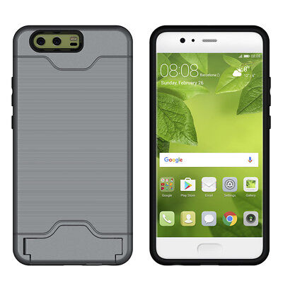 Hard Armor Stand Card Slot Shockproof Case Cover For Huawei P10 P10plus
