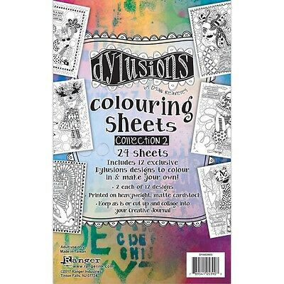 """Dyan Reaveley's Dylusions Coloring Sheets 5""""X8"""" - #2"""