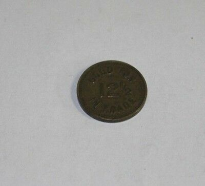The Mint 12 1/2 Cent Trade Token Helena Montana 23 N. Warren St. Saloon Tavern