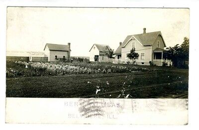 Bert R Lucas Farm Belvedere Real Photo Illinois Postcard 1910's