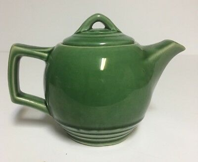 Vintage McCoy USA ~ Small Green Tea Pot~ Holds 1 1/2 Cup ~ Art Deco Style