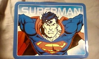 1998 superman lunchbox with thermos & chip case by Thermos & DC Comics N/U