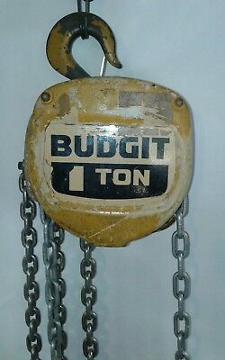 8 ft LIFTECH BUDGIT CHAIN HOIST 1 TON RATED LOAD 8262SR Used in Good Shape