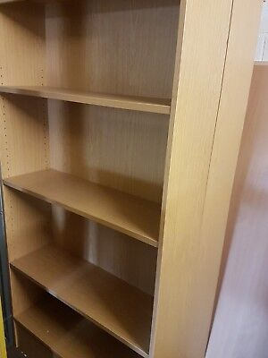 Large office bookcases 3 shelves in a Oak effect 1800mm high
