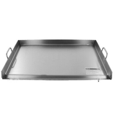 """32"""" x 18"""" Stainless Steel Griddle - Double Flat Top Grill - Plancha - Heavy Duty"""